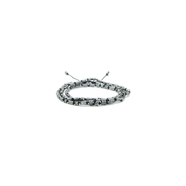 Twisted Cord Sterling Silver Coil Necklace Collection : Colors Black