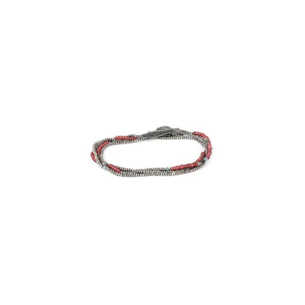 Mini Bead and Silver Horizon Combination Colors : Red